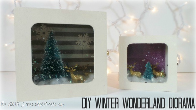 DIY Winter Wonderland Diorama Tutorial at IrresistiblePets.com