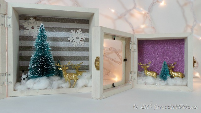 DIY Winter Wonderland Diorama at IrresistiblePets.com