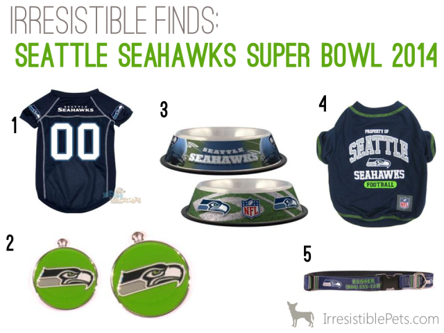Irresistible Finds - Seattle Seahawks Super Bowl Dog Accessories