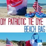 DIY Patriotic Tie Dye Beach Bag