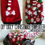 DIY Ugly Christmas Sweater for Dogs #uglysweaterchallenge