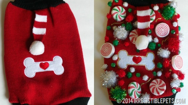Ugly Christmas Sweater Before and After