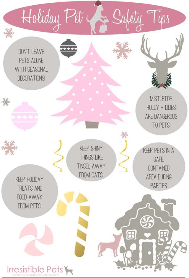 Holiday Pet Safety Tips by IrresistiblePets.com