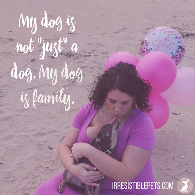 My dog is not just a dog. My dog is family. IrresistiblePets.com