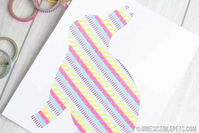 DIY Washi Tape Bunny Frame (10)