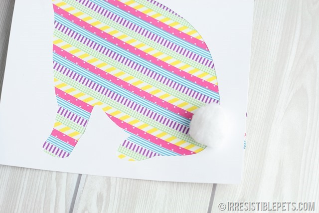 DIY Washi Tape Bunny Frame (12)