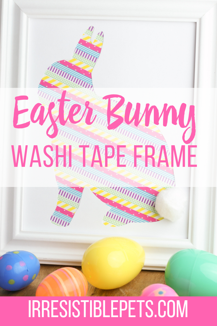 DIY Washi Tape Bunny Frame